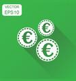 money coin euro icon business concept coins vector image