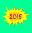 sticker with text of 2016 year vector image