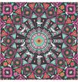 Ornamental round aztec geometric pattern vector image
