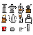 Coffee manual brewers vector image