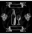 Restaurant or bar wine list on chalkboard vector image vector image