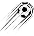 Soccer ball with trail vector image