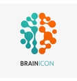 Brain creation idea icon and element vector image vector image
