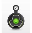 power button - icon vector image vector image