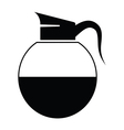 black coffee icons vector image