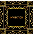 Art decor invitation card in vintage style vector image