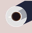 coffee cup flat design vector image
