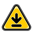 download sign triangular sticker vector image