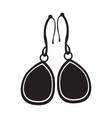 earrings silhouette vector image