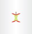 eaten apple logo clipart vector image