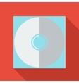 Modern flat design concept icon CD or DVD computer vector image