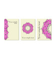 pink flowe rcards vector image
