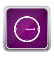 purple emblem clock icon vector image