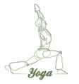 Yoga Pose 1 vector image
