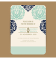 wedding navy blue vintage invitation card vector image vector image