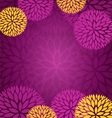 Purple Gold Abstract Flower Background vector image