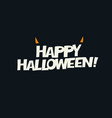 logotype design horns added abstract halloween vector image