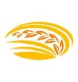 Wheat cereal symbol vector image