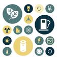 icons plain round energy vector image