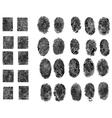 30 Fingerprints vector image vector image