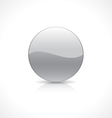 Round silver button vector image vector image