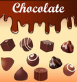 background with streaks of chocolate vector image vector image