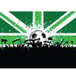Fans Celebrating Football vector image vector image