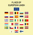 Flags EU vector image