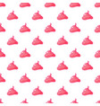 funny pink cream background seamless pattern vector image