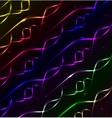 Glowing waves and spirals background vector image