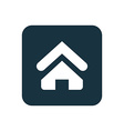 Home icon Rounded squares button vector image