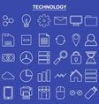 Linear technology icon for website and app vector image