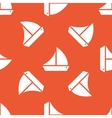Orange ship pattern vector image