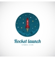 Rocket Launch Concept Symbol Icon or Logo Template vector image