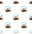 volcano eruption icon in cartoon style isolated on vector image