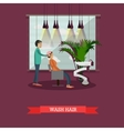 Beauty salon concept banners Customer in vector image