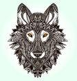 graphic wolf vector image