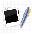 frames and pen vector image vector image