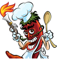 Cook the pepper vector image