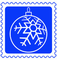 Christmas ball on stamp vector image vector image
