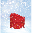 santa bag background vector image