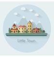 Little city street vector image
