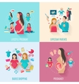 Pregnancy Flat Icons vector image