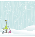 winter - christmas vector image vector image