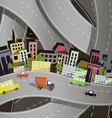 abstract of a city on the background of the site r vector image vector image