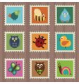 wildlife stamps vector image vector image