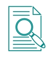 Search in file sign icon find document symbol vector image