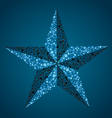 nautical star vector image vector image
