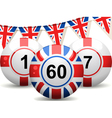 British Bingo Balls vector image