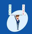 businessman balance between work and life vector image